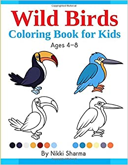 Wild Birds Coloring Book For Kids A Copy Color Book For