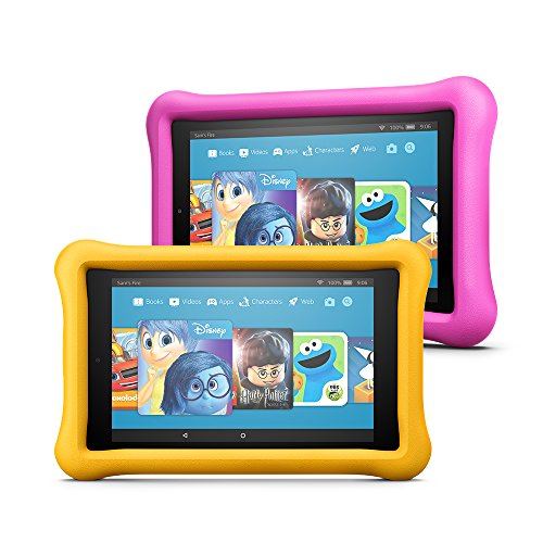 """Fire HD 8 Kids Edition Tablet Variety Pack, 8"""" HD Display, 32 GB, (Yellow/Pink) Kid-Proof Case"""