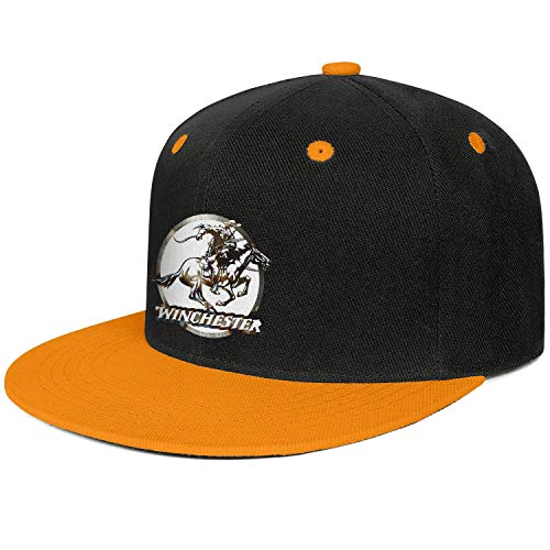 Winchester Repeating Arms Logo Men Women Snapback Hats Retro Cool Adjustable Flat Bill Hip Hop Truck Hat Outback Hat ()