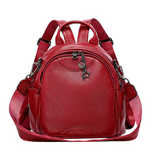 ALTOSY Soft Genuine Leather Backpack for Women Small Convertible Backpack Purse Shoulder Bag for Ladies