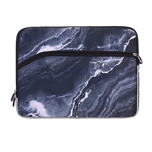 COSMOS Neoprene Protective Laptop Notebook Sleeve Case Bag for Old MacBook Pro 13 / MacBook Air 13/ Old MacBook Pro Retina Display 13 (Black Marble Pattern)