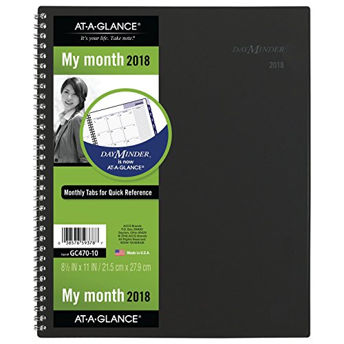 "AT-A-GLANCE DayMinder Monthly Planner, January 2018 - December 2018, 8-1/2"" x 11"", Color Will Vary (GC47010)"