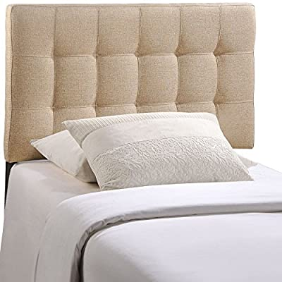 Modway Lily Upholstered Tufted Fabric Headboard Twin Size