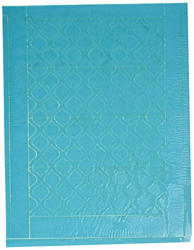 Buttercream Accent (OASKA Lucks Sweet Shapes Fondant Strips Plus Bonus Ribbons & Accent Pieces Decorative Cake Topper (4 Pack), Teal/Quatrefoil)