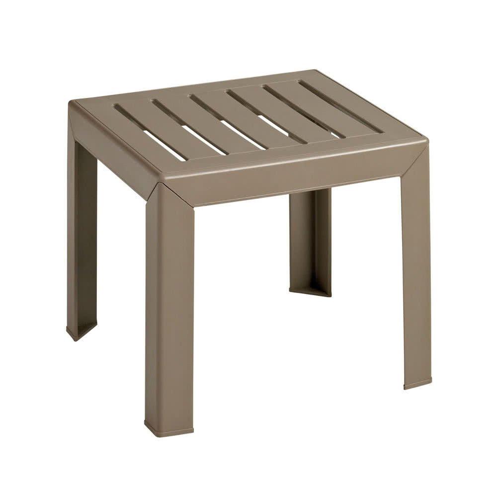 TableTop king CT052008 Bahia 16'' x 16'' Teakwood Resin Low Table
