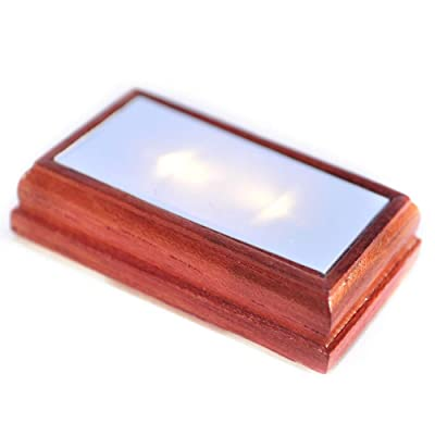 Melody Jane Dollhouse Rectangular Flush Ceiling Light Walnut Wood LED Battery Lighting: Toys & Games