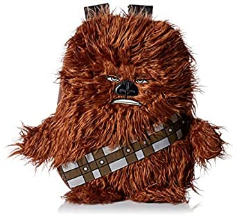 "Star Wars Boys' Disney Chew Bacca 3D Plush Furry Arms and Legs 16"" Backpack, Brown"