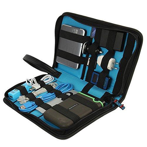 Khanka Universal Electronics Accessories Carrying Travel Organizer / Hard Drive Case Bag / Power Bank / Memory Card / Cable organizer (Medium) by Khanka (Image #1)