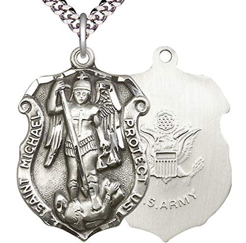 Pewter St. Michael Shield/Army Medal, 1-1/8