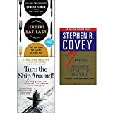 img - for Leaders eat last, turn the ship around and 7 habits of highly effective people 3 books collection set book / textbook / text book