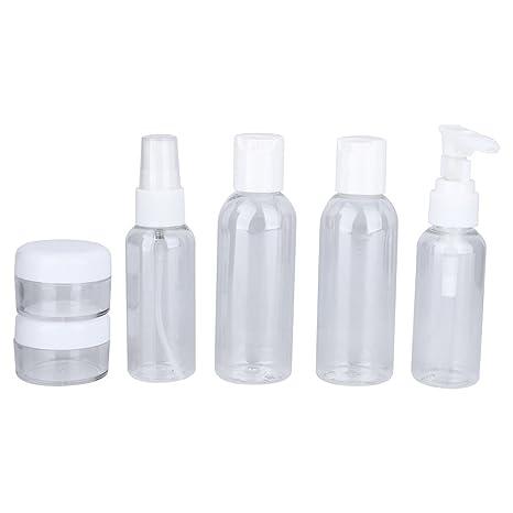 Dispensador De Cosméticos Portátil Botella De Viaje Herramienta De Maquillaje Transparente 6 Pcs/Set