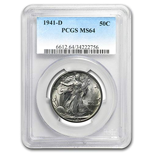 1941 D Walking Liberty Half Dollar MS-64 PCGS Half Dollar MS-64 PCGS