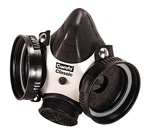 MSA 808053 Comfo Classic Half-Mask Facepiece Respirator, Medium, Black