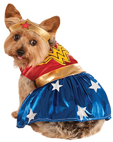 DC Comics Pet Costume, Small, Wonder Woman from Rubie's
