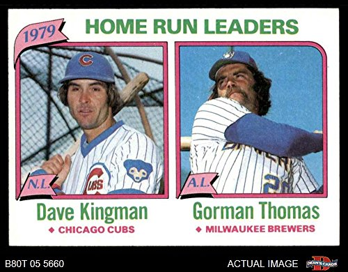 - 1980 Topps # 202 HR Leaders Dave Kingman/Gorman Thomas Chicago Milwaukee Cubs Brewers (Baseball Card) Dean's Cards 7 - NM Cubs Brewers