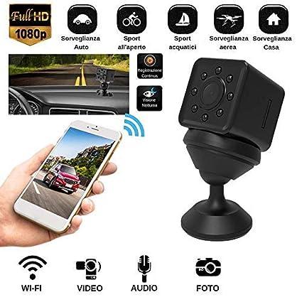 Mini Cámara Oculta espía Cámara espía WiFi Full HD Micro SD + Regalo Funda Resistente al