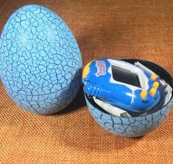 (Tamagotchi Pet - Virtual Pet Toy - Cool Design Dinosaur Egg Virtual Cyber Digital Pet Game Toy Tamagotchis Digital Electronic E-Pet Christmas Gift - Blue - Virtual Pet Keychain)