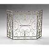 Amazon.com: French Country White Iron Fireplace Screen: Home & Kitchen