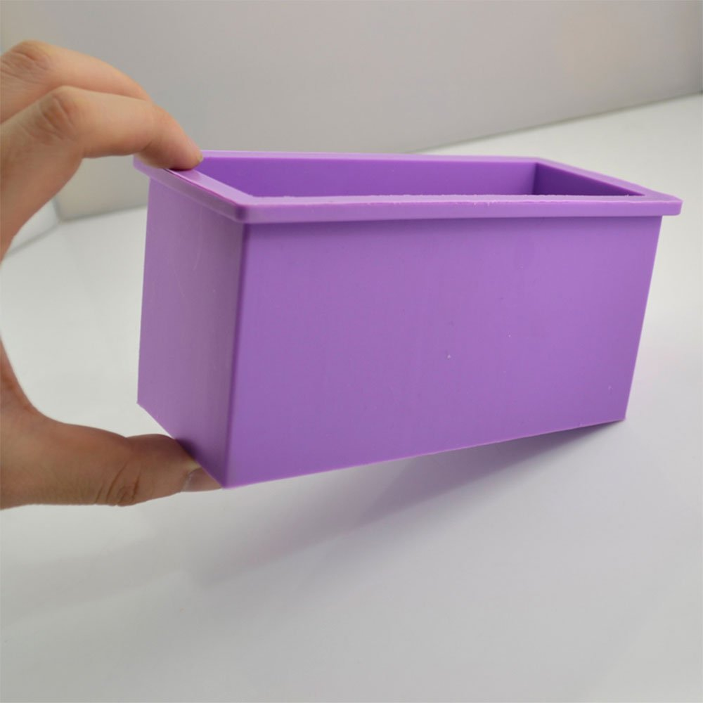 Rectangle 600ml Pastry Soap Toast Bread Loaf Cake Quality Silicone Mold Bakeware