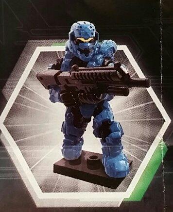 Halo Charlie Series - Cyan Spartan Soldier w/ Shotgun - Sealed