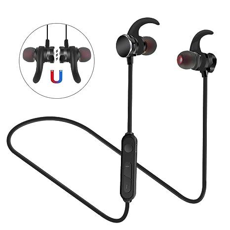 Rusee Auriculares Bluetooth 4.1 Sport In Ear, Auricular Magnético Correr con Micrófono para Deportivo Correr Fitness Workout Auricular Estéreo, para ...