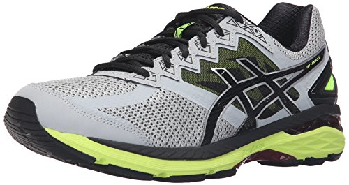 ASICS Men's GT-2000 4 Running Shoe Mid Grey/Black/Safety Yellow free shipping tumblr clearance low price clearance huge surprise clearance top quality under $60 cheap price DyQ5CnmW