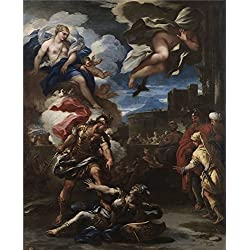 Oil Painting 'Giordano Luca Turno Vencido Por Eneas 1688 ' Printing On Polyster Canvas , 30 X 37 Inch / 76 X 94 Cm ,the Best Powder Room Decoration And Home Artwork And Gifts Is This Cheap But High Quality Art Decorative Art Decorative Canvas Prints