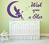 Best Wishes Stickers - Wish upon a Star Quote, Vinyl Wall Art Review