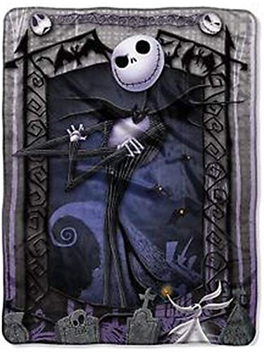 Jack Skeleton Decorations (The Nightmare Before Christmas Blanket Throw ~ Jack Skellington & Zero by)