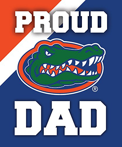 R and R Imports, Inc Florida Gators NCAA Collegiate 5x6 Inch Rectangle Stripe Proud Dad Decal Sticker