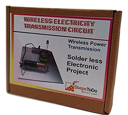 StepsToDo (with device)  Wireless Electricity Transmission Circuit  DIY Kit  on Breadboard  Science Project  with Theory, Circuit and Usage Manual