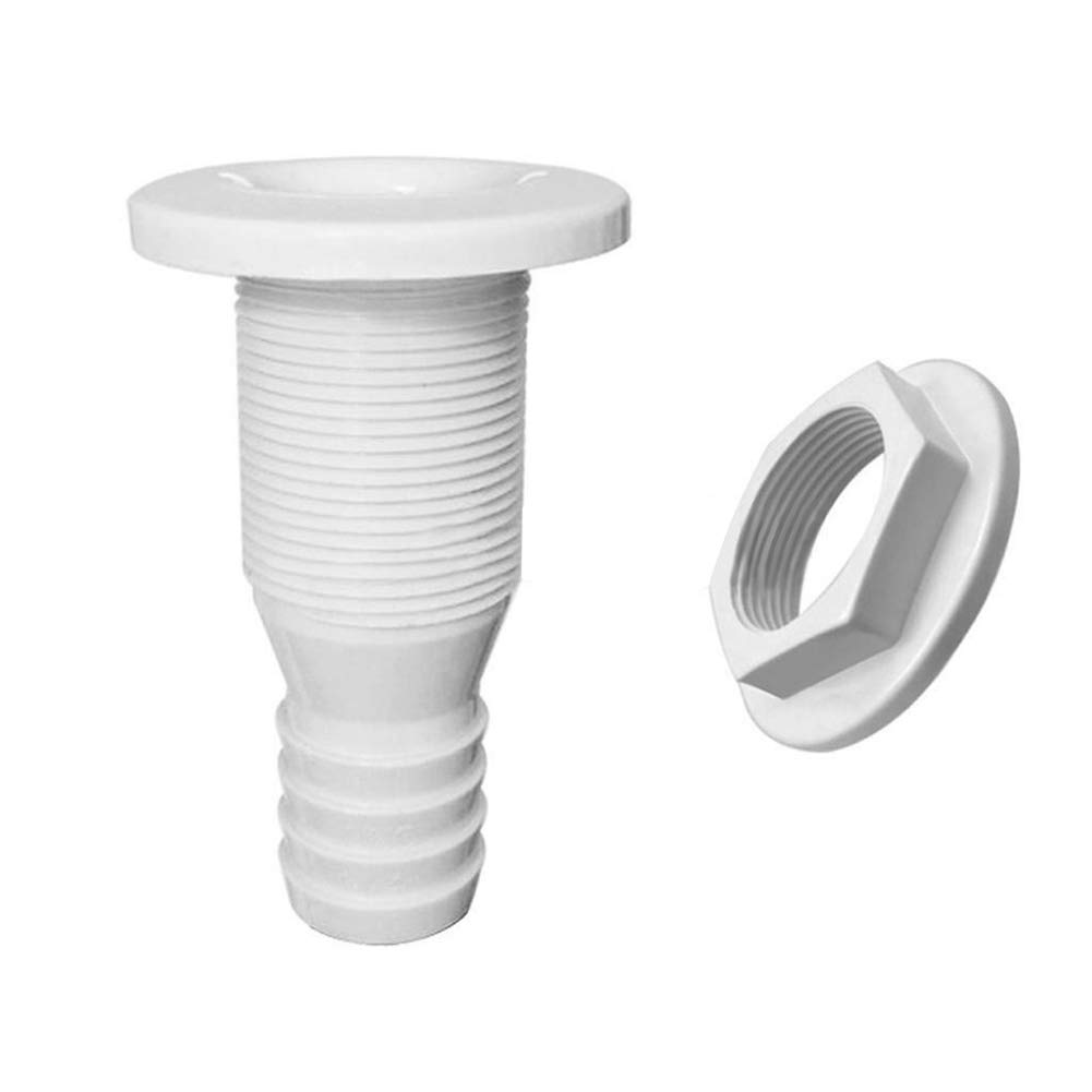 Approx qhtongliuhewu Thru-Hull Hose Fitting Plastic Bilge Pump Connector Part Good Replacement 80mm//3.15