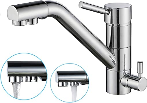 3Wege Küche Wasserhahn Wasserfilter Küchenarmatur Spültischarmatur Mischbatterie