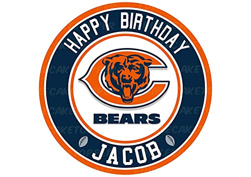 EdibleInkArt Chicago Bears Edible Cake Topper Personalized Birthday