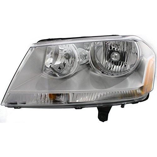 Headlight for Dodge Avenger 08-14 Left Assembly Halogen SE/SXT Models