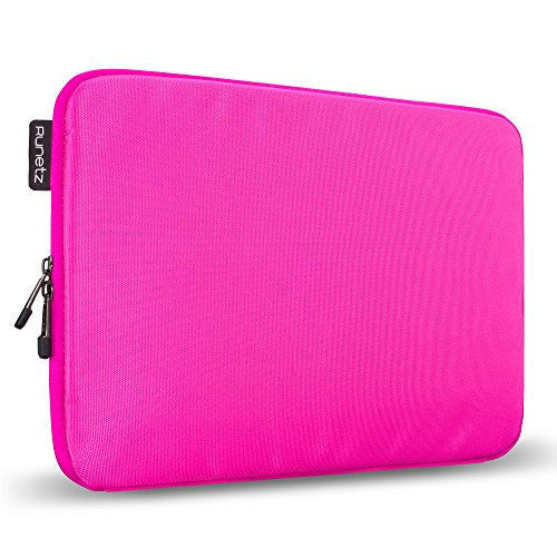 Runetz - 13-inch HOT Pink Soft Sleeve Case for Newest MacBook Pro 13