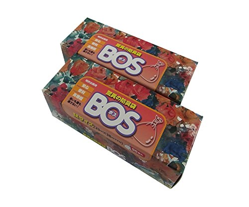 BOS, Amazing Odor-sealing Disposable Bags (180 Bags - 2 Packs of 90) [Size:M, Color:White]