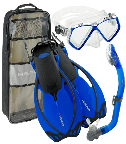 Junior Mask (Head by Mares Junior Mask Fin Snorkel Set, with Snorkeling Backpack, LG, Youth (1-4))