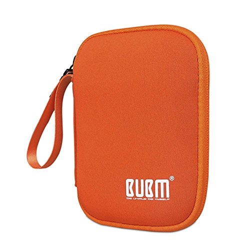 BUBM Enclosure 2.5'' USB 3.0 Hard Drive Bag Power Bank Portable Charge Travel Case, 5.9'', Orange (QYD-S-02) by BUBM (Image #7)