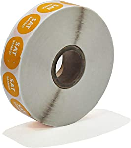 19mm Day of The Week Dot Sticker-Food Safety Rotation Permanent Label-2000Stickers per roll (Orang)