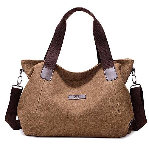 Shoulder Casual Canvas Ladies Shopper Daily Coffee Fashion KARRESLY Bags Hobo Women's Tote Purse Handbag qnIEwA