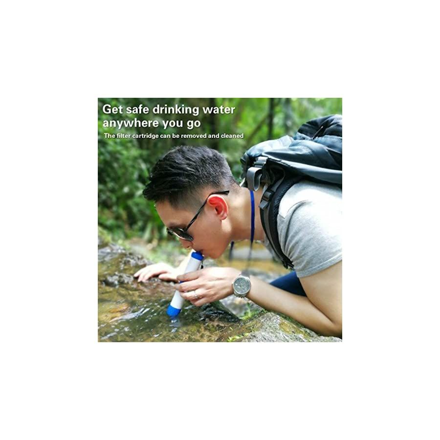 Woshishei Portable Filter Suction Pipe Outdoor Wild Water Purifier Pressure Water Filter