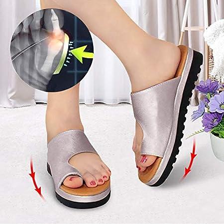 Femmes Casual Doux Grand Toe Pied Correction Sandale Pantoufles Bulles L/ég/ères Fond Soulager Soulager Hallux Valgus Douleur Jiadi Correcteur Oignon