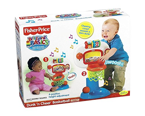 Fisher-Price Brilliant Basics Dunk 'n Cheer Basketball (Fisher Price Basketball Hoops)