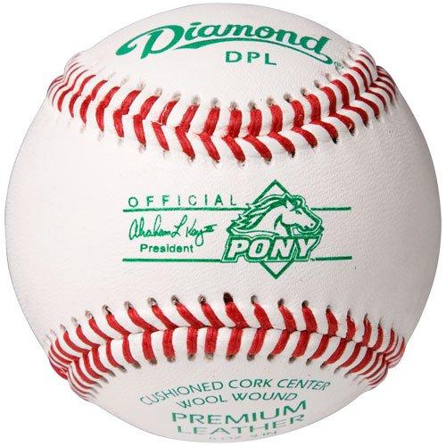 Diamond Dpl Pony League Leather Baseballs 12 Ball Pack (Pony Grade League Baseball)