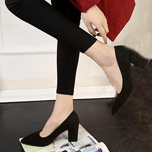 Tacchi Scarpe Casual Fashion Jamicy Alti Scamosciate Women Nero xwvIx8E