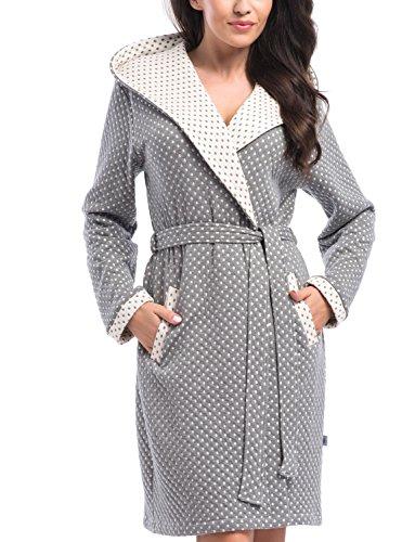 Dn-Nightwear SGW.8030 Bata De Mujer gris oscuro