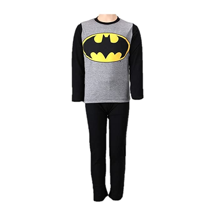 Batman,DC Comics,Superman - Pijama dos piezas - para niño Negro negro 6