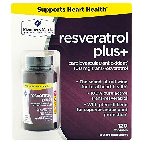 Member's Mark 100mg Resveratrol Plus+ Dietary Supplement (120 ct.) (pack of 6) by Members Mark