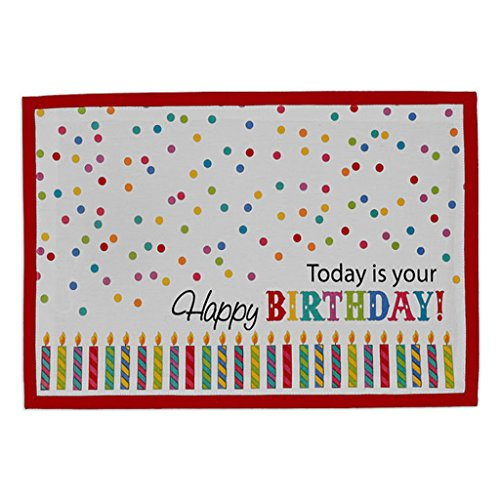 - Design Imports Happy Birthday Placemat 13 x 9 Inches